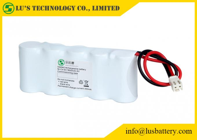 1.2V 3.6 Volt Nickel Cadmium Battery For Medical Device / Metal Detectors