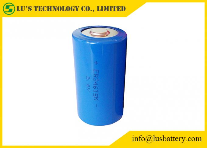 3.6V 13.0Ah Lithium Thionyl Chloride Battery Lithium Battery ER34615M Size D