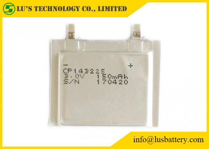 3V Primary Litihium Battery / CP143225 Ultra Thin Lithium Battery Soft Packed