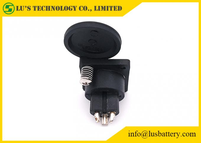 Black Color Battery Accessories XLR Female Connector ABS / PC Material