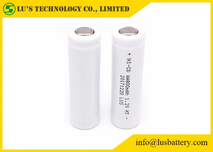 AA 800mah Nickel Cadmium 1.2 V Battery , High Temperature Rechargeable Battery