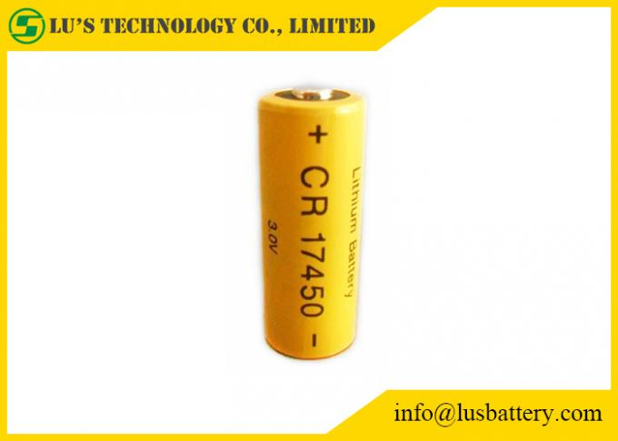 CR17450 3.0V Lithium Manganese Dioxide Battery 2000mah - 2200mah Capacity