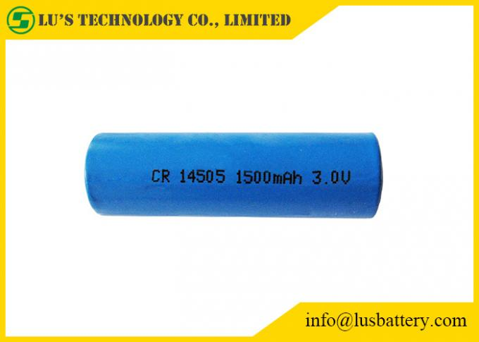 3V Lithium Primary Battery AA Size 1500mah , CR14505 Lithium Battery
