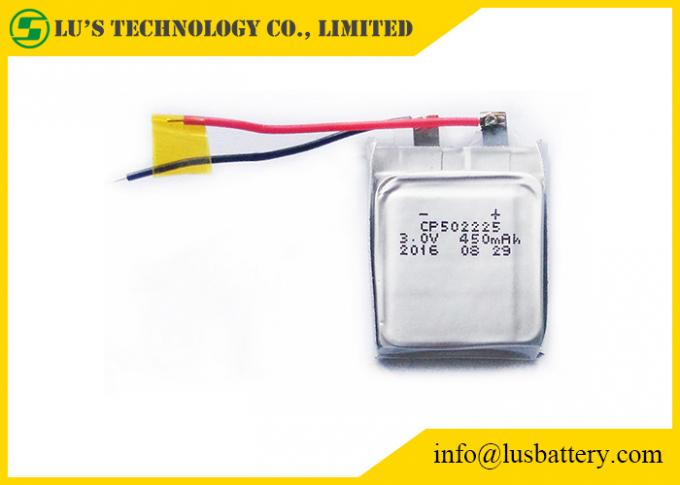 CP502225 450mah Ultra Thin Battery Lithium Primary LIMNO2 Type 10 Years Self Life