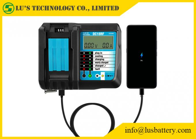 DC18RF DC18RA Li-ion Battery Charger with LCD Screen 3.5A Makit 14.4V 18V BL1830 BL1815 DC18RC 0