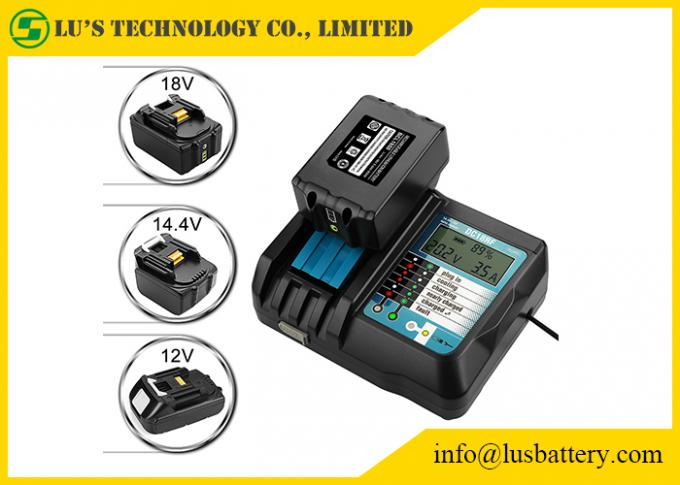 DC18RF DC18RA Li-ion Battery Charger with LCD Screen 3.5A Makit 14.4V 18V BL1830 BL1815 DC18RC 1