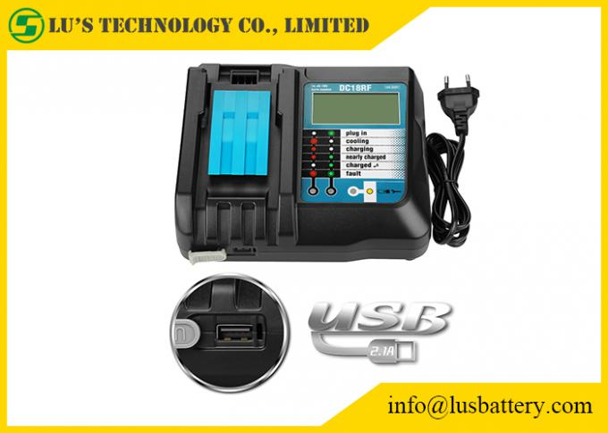 DC18RF DC18RA Li-ion Battery Charger with LCD Screen 3.5A Makit 14.4V 18V BL1830 BL1815 DC18RC 2