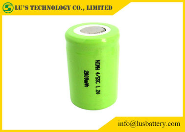 4/5SC 2000mah 1.2 V Rechargeable Battery Long Service Life For LED Torch / Alarm System