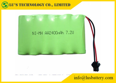 2400mah 7.2V 1.2 V Rechargeable Battery , AA NIMH Battery Pack Long Service Life