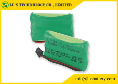 Customized Color NIMH Batteries AAA Rechargeable Phone Battery 3.6 V 800mah nimh battery pack