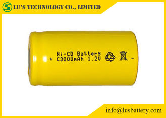 Customized Color NICD Nickel Cadmium Rechargeable Battery 1.2V C3000mah