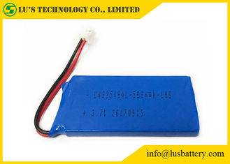 China Blue PVC 3.7 V 500mah Lipo Battery  LP482549 3.7 Volt Lithium Polymer Battery 500mah 3.7v battery supplier