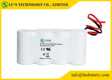 4.8V SC2500mah Nickel Metal Hydride Battery For MP3 High Energy Density