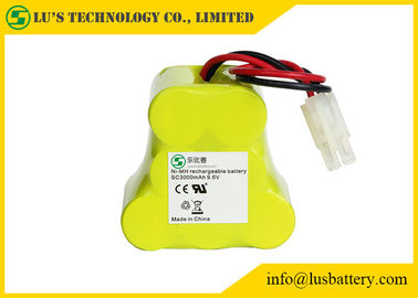 9.6 Volt Rechargeable Battery Pack , 3000 Mah NIMH Battery Customized Color