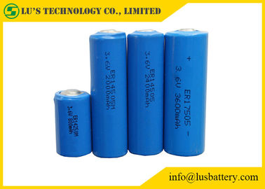 Cylinder Shape Lithium Thionyl Chloride Battery 3.6V Lithium Battery Blue Color