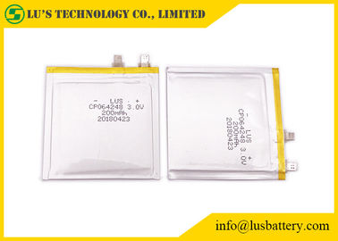 China Light Weight 200mAh 3.0 V Lithium Battery CP064248 For Bank Card supplier
