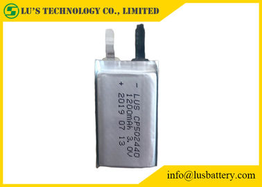 China Disposable thin cell CP502440 3V 1200mAh Specialised size batteries supplier