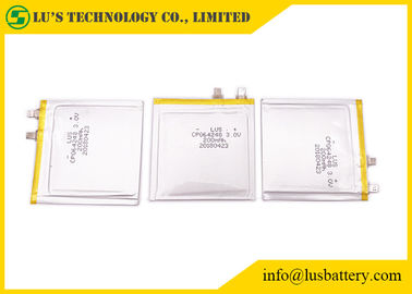 China Lithium Ultra Slim Battery 3.0V 200mah Limno2 CP064248 For Payment System supplier