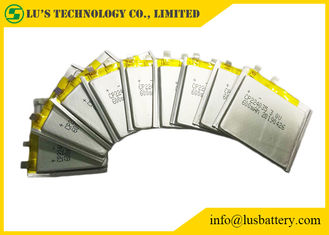 China 3 Volt Flat Lithium Battery , CP224035 600mAh Ultra Thin Cell For Smart Cards supplier