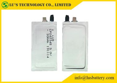 3V 30mAh Primary Lithium Battery CP042345 super thin batteries For Credit Card
