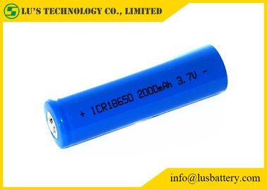 China Professional 3.7V Rechargeable Lithium Ion Battery 2000mah 18650 Battery distributor