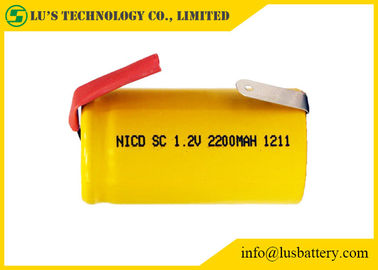 China Multi Function Sub C 1.2 Volt Battery / Sub C 2200mah Nicd Rechargeable Battery distributor