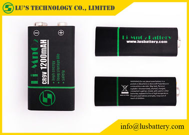 China CR9V Primary Lithium Manganese Battery / 9v Lithium Battery 1200mAh distributor