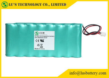 China 9.6V 1300mah AA NIMH Rechargeable Battery Pack OEM / ODM Acceptable distributor