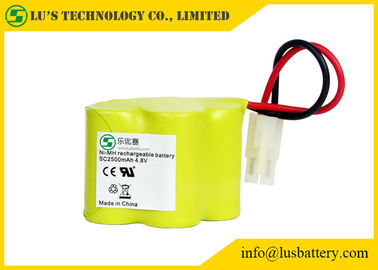 China NIMH Nickel Metal Hydride Battery Rechargeable With Wires / Connector distributor