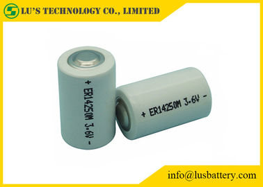 China Multi Function 1/2 AA Lithium Battery , ER14250M Lithium Battery 3.6V 0.75ah distributor