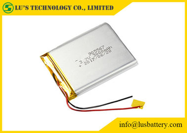 China LiPo 905567 Rechargeable Lithium Polymer Battery 3000mah 3.7V Customized Terminals distributor
