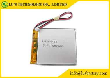 China LP354453 3.7 V 800mah Battery , Lithium Polymer Rechargeable Battery distributor