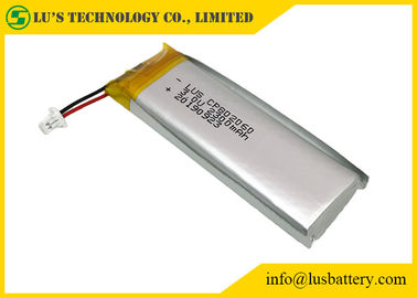 China Disposable Flexible Lithium Battery 3.0V 2300mAh CP802060 With Wires / Connector distributor