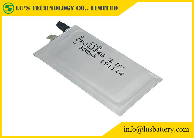 RFID Battery Ultra Thin cell CP042345 For Smart Cards 2
